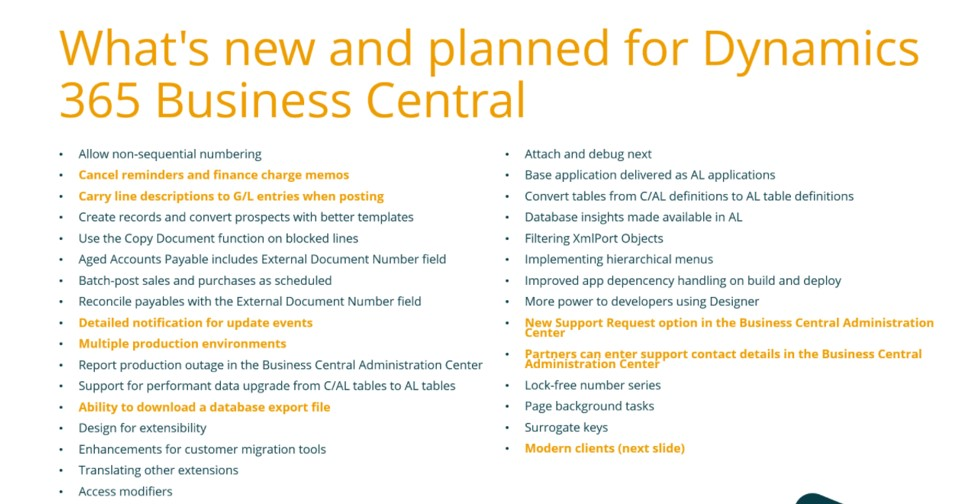 Business Central 2019 updates from Dynamics 365. Supported by Synergy Technology.
