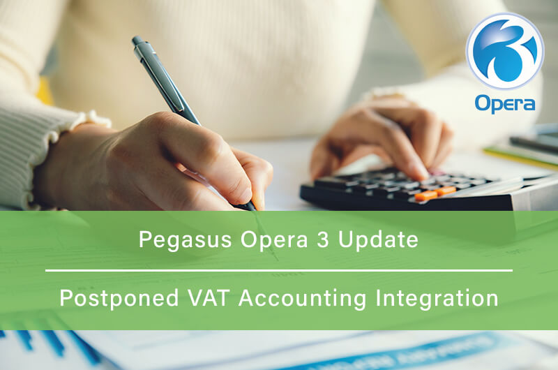 Woman sorting out VAT returns and using a calculator. Related to Pegasus Opera and postponed VAT accounting.