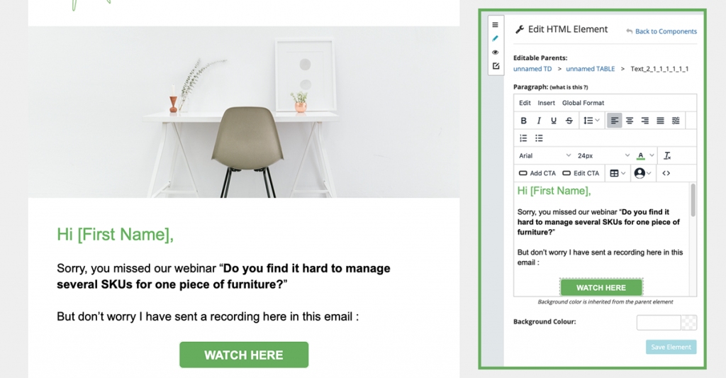 Force24 Email Editor for Audience Personalisation